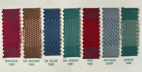Colors Available / We are sorry, but #1860 Green & #1861 Dark Green are DISCONTINUED!