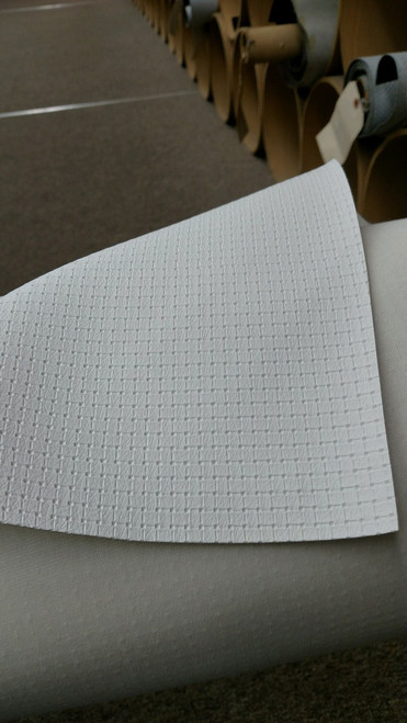 """Woven Pattern White Vinyl 54"""" - Sold by the CONTINUOUS YARD!"""