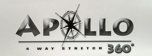 "Apollo 4-WAY STRETCH Black Vinyl 54"" - Sold by the CONTINUOUS YARD!"