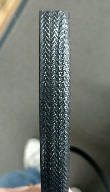 "Black Basket Weave Grain, 21/32"" Tall / Grip Leg Length is +/- 9/16"" /  Sold by the continuous Linear Yard"