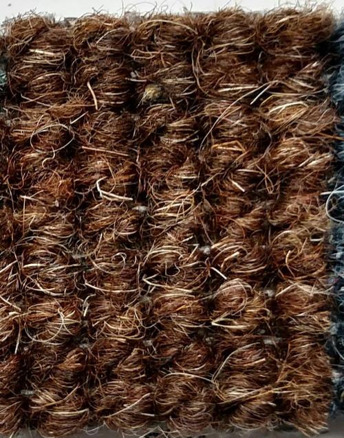 "Imported German Wool Square Weave Carpet 71"" - 503 Brown"