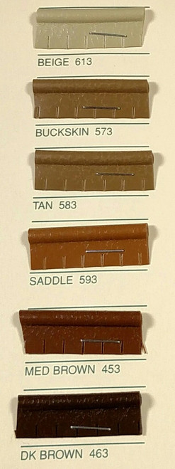 Embossed Snipped Seat Welt 453 Medium Brown - Sold by the CONTINUOUS YARD!