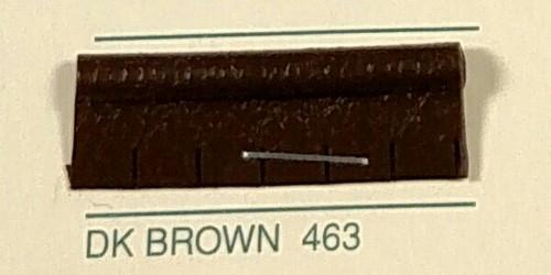 Embossed Snipped Seat Welt Dark Brown