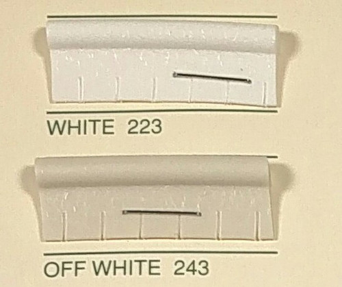 Embossed Snipped Seat Welt 243 Off White - Sold by the CONTINUOUS YARD!