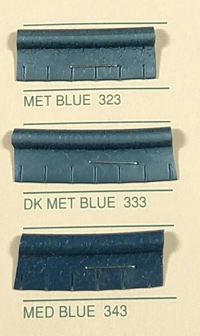 Embossed Snipped Seat Welt 323 Metallic Blue - Sold by the CONTINUOUS YARD!