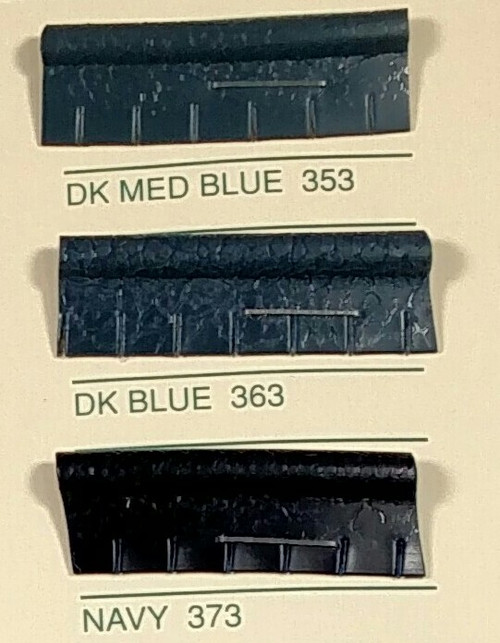 Embossed Snipped Seat Welt 353 Dark Medium Blue - Sold by the CONTINUOUS YARD!