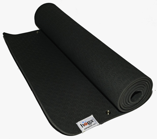 Hoga™ Mat in Dark Sage Green  This is our  base mat (bottom snap attachment) made of eco-friendly TPE (Thermal Plastic Elastomer). We specifically chose this material because it is non- porous  (sweat and bacteria is not absorbed into your mat!) and friendly to the environment.  The optimal thickness of 6 mm, provides ample cushioning for feet, hands and joints, but not too thin so that it will not crumble beneath you.   This mat is designed to attach with our HOGA™ Towel (purchased separately).   Mat Dimensions: 24 in. x 72 in. Mat Thickness: 6 mm  Fasteners: Brass and nickel plated for durability and resistant to rust.