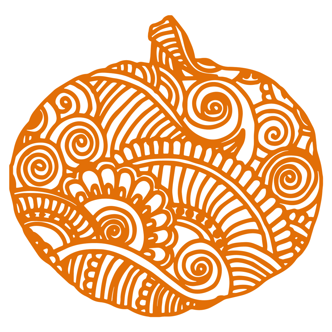 Zentangle Pumpkin Svg Svg Eps Png Dxf Cut Files For Cricut And Silhouette Cameo By Savanasdesign