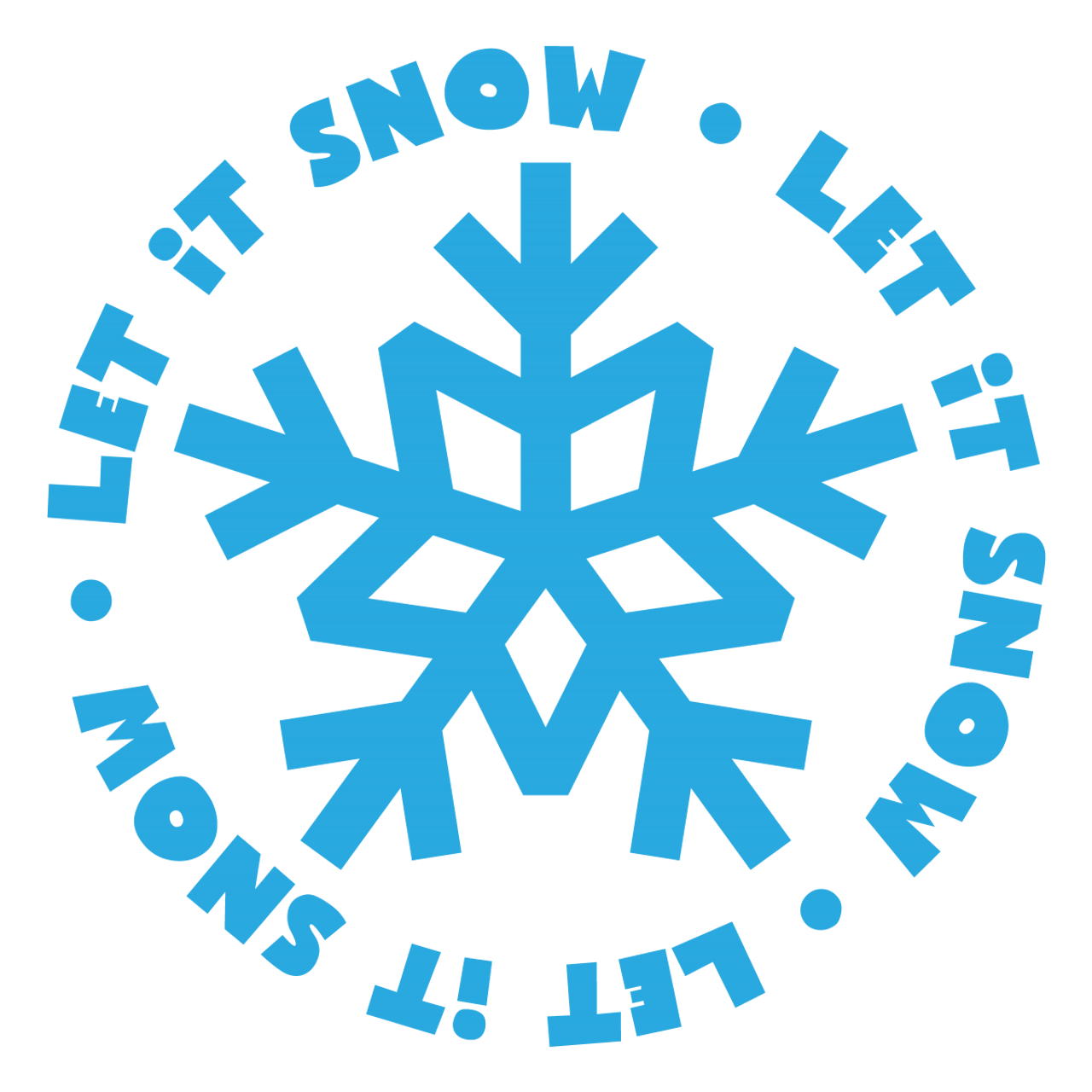 Let It Snow Svg Svg Eps Png Dxf Cut Files For Cricut And Silhouette Cameo By Savanasdesign