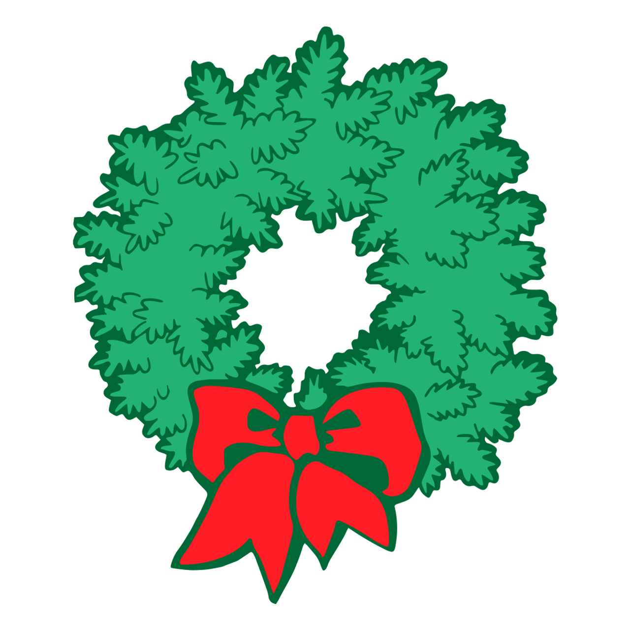 Christmas Wreath Silhouette.Christmas Wreath Svg Svg Eps Png Dxf Cut Files For Cricut