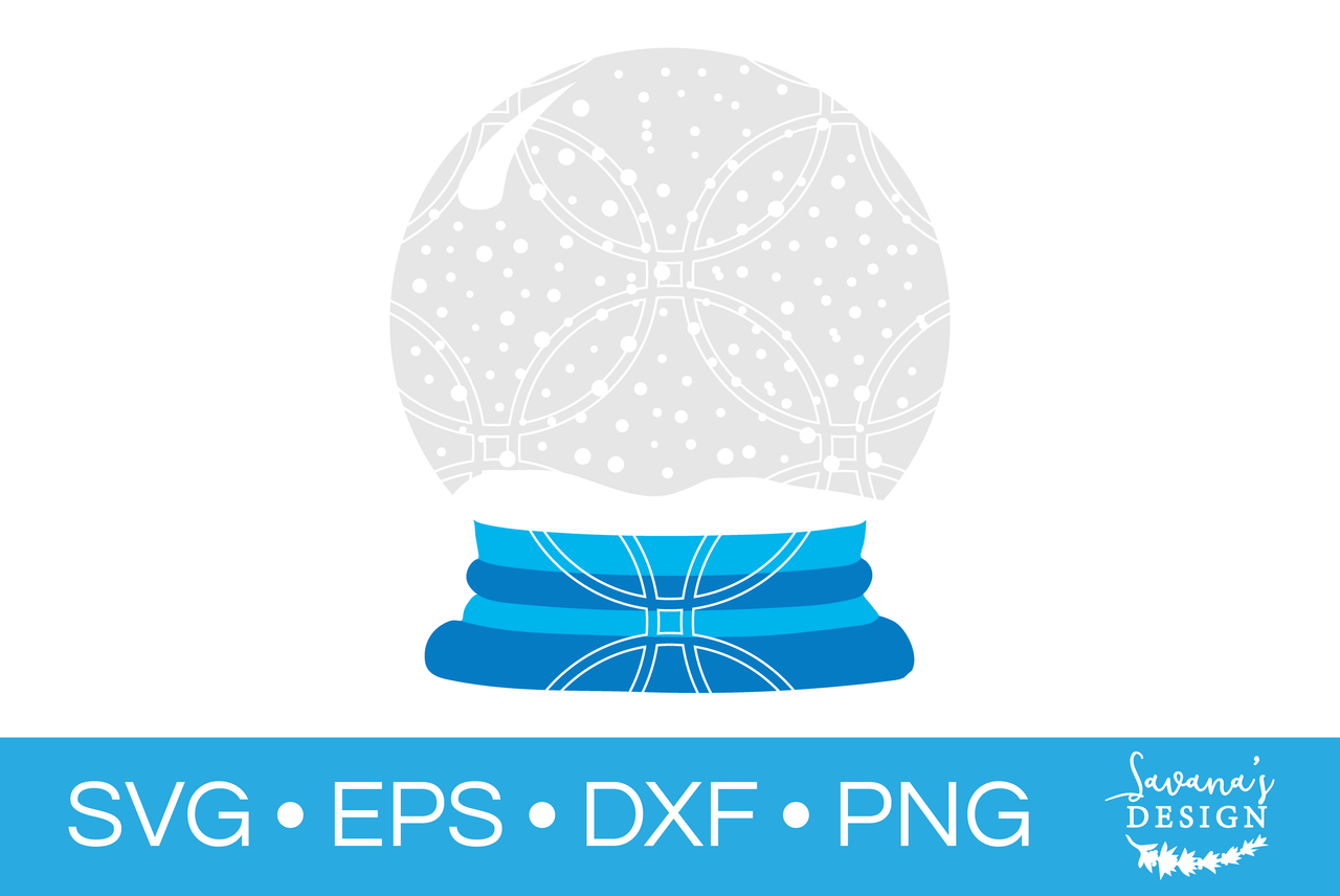 Snow Globe Svg Svg Eps Png Dxf Cut Files For Cricut And Silhouette Cameo By Savanasdesign