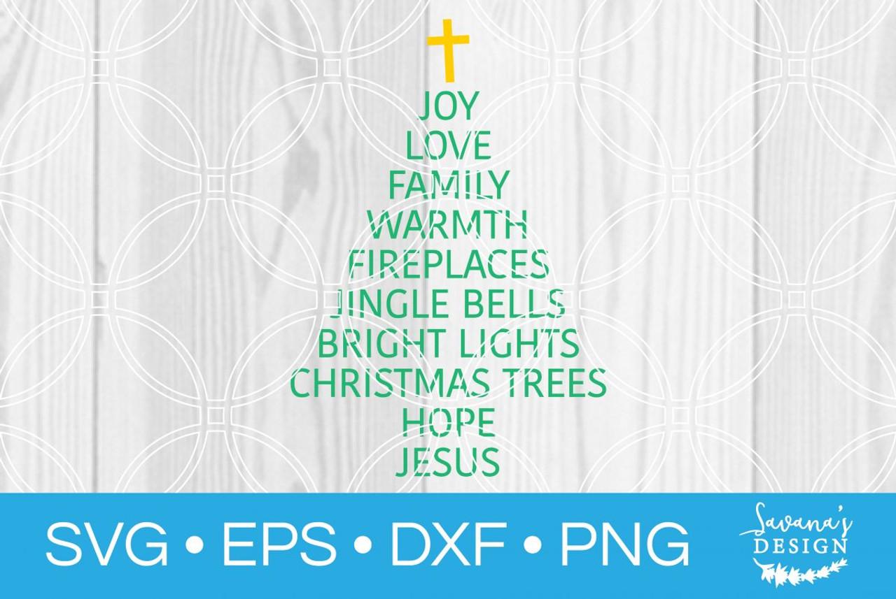Christmas Subway Art Svg.Christmas Tree Words Svg