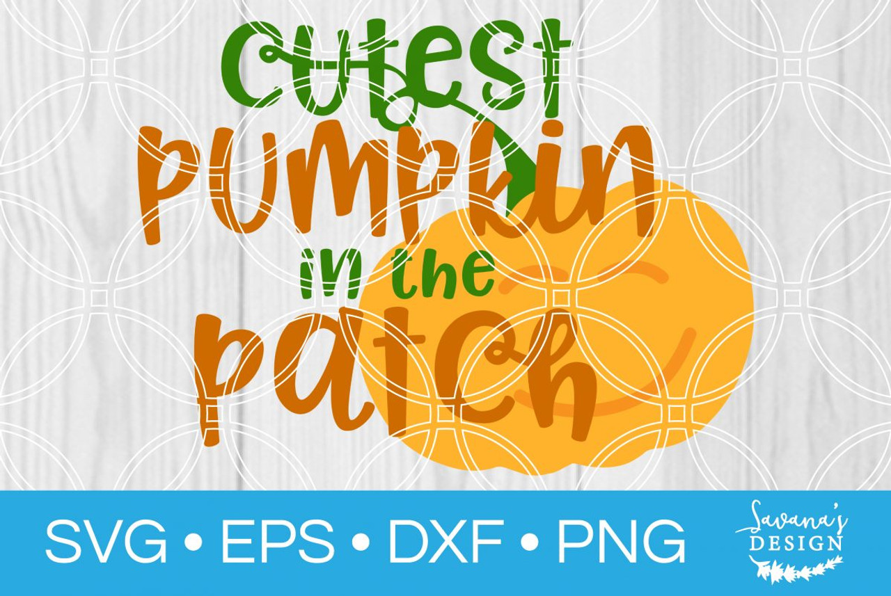 11+ Cutest Pumpkin In The Patch Svg And Png – Svg Cut File – Fall Svg – Cricut – Silhouette Cameo – Pumpkin Svg PNG
