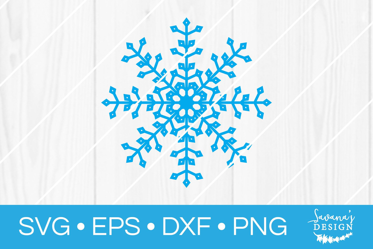 Snowflake Svg V7 Svg Eps Png Dxf Cut Files For Cricut And Silhouette Cameo By Savanasdesign