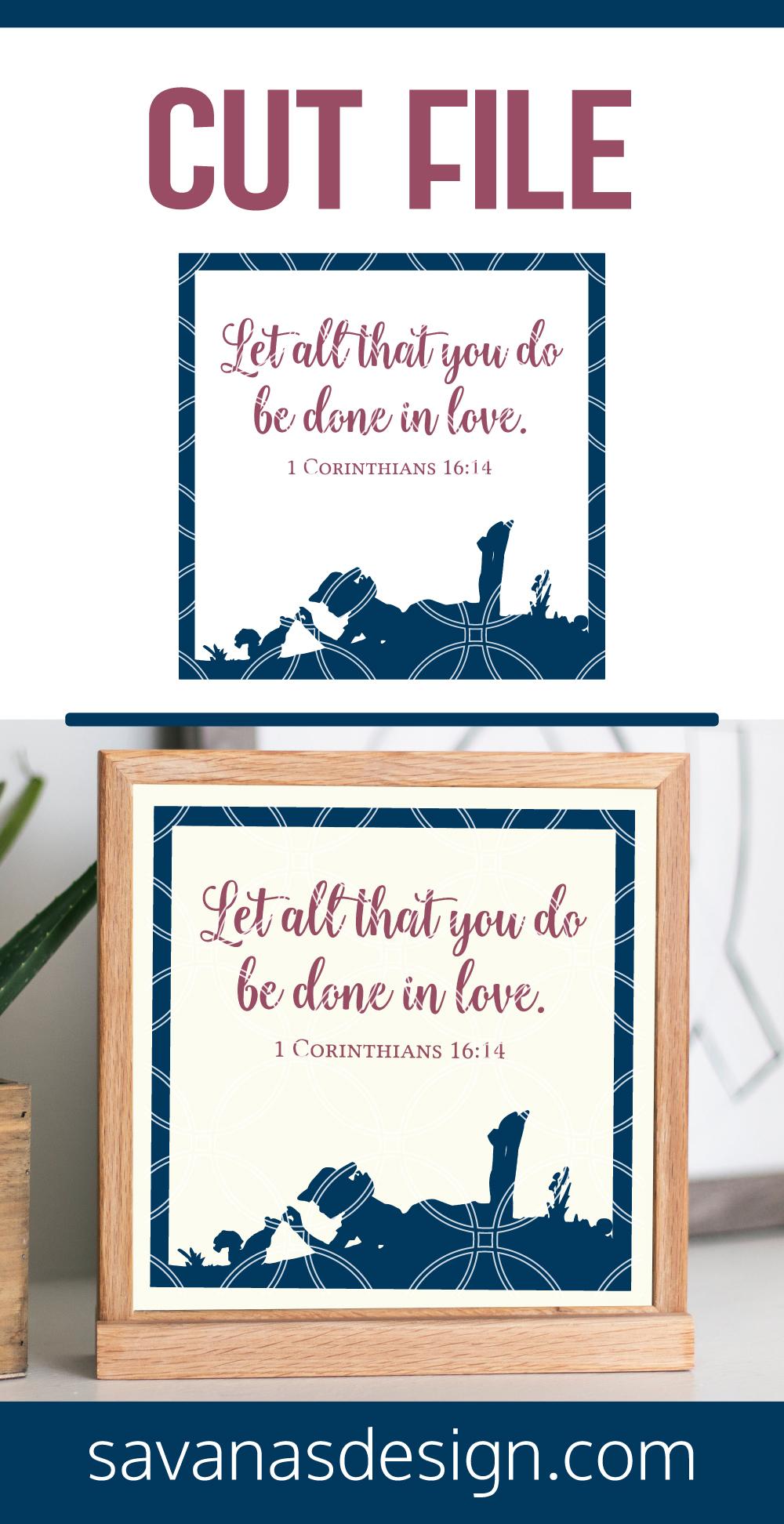 1 Corinthians 16 14 Verse Pinterest