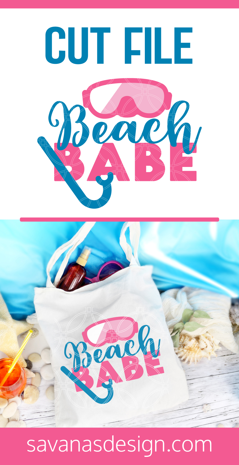 Beach Babe SVG Pinterest