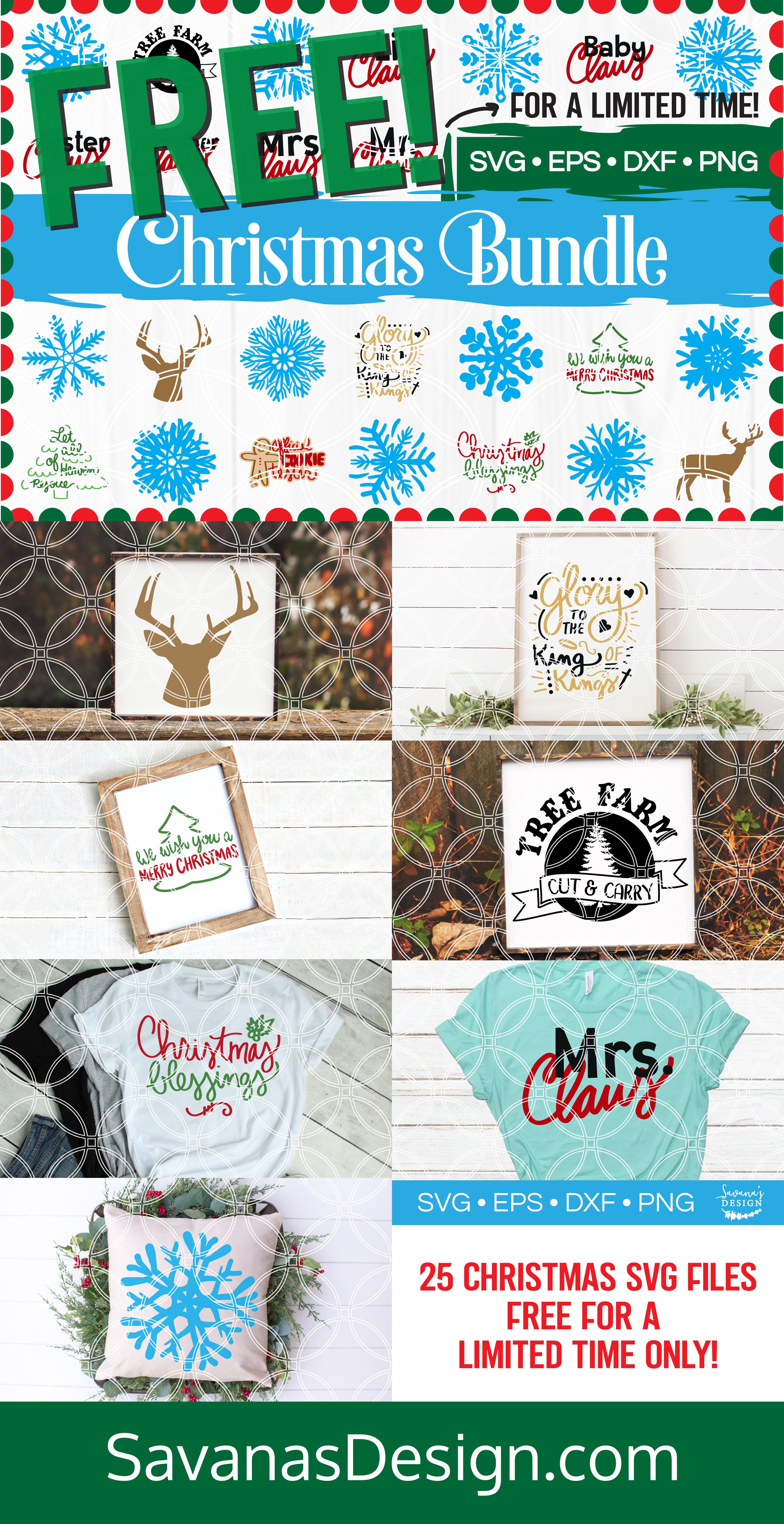 Christmas SVG Bundle Pinterest