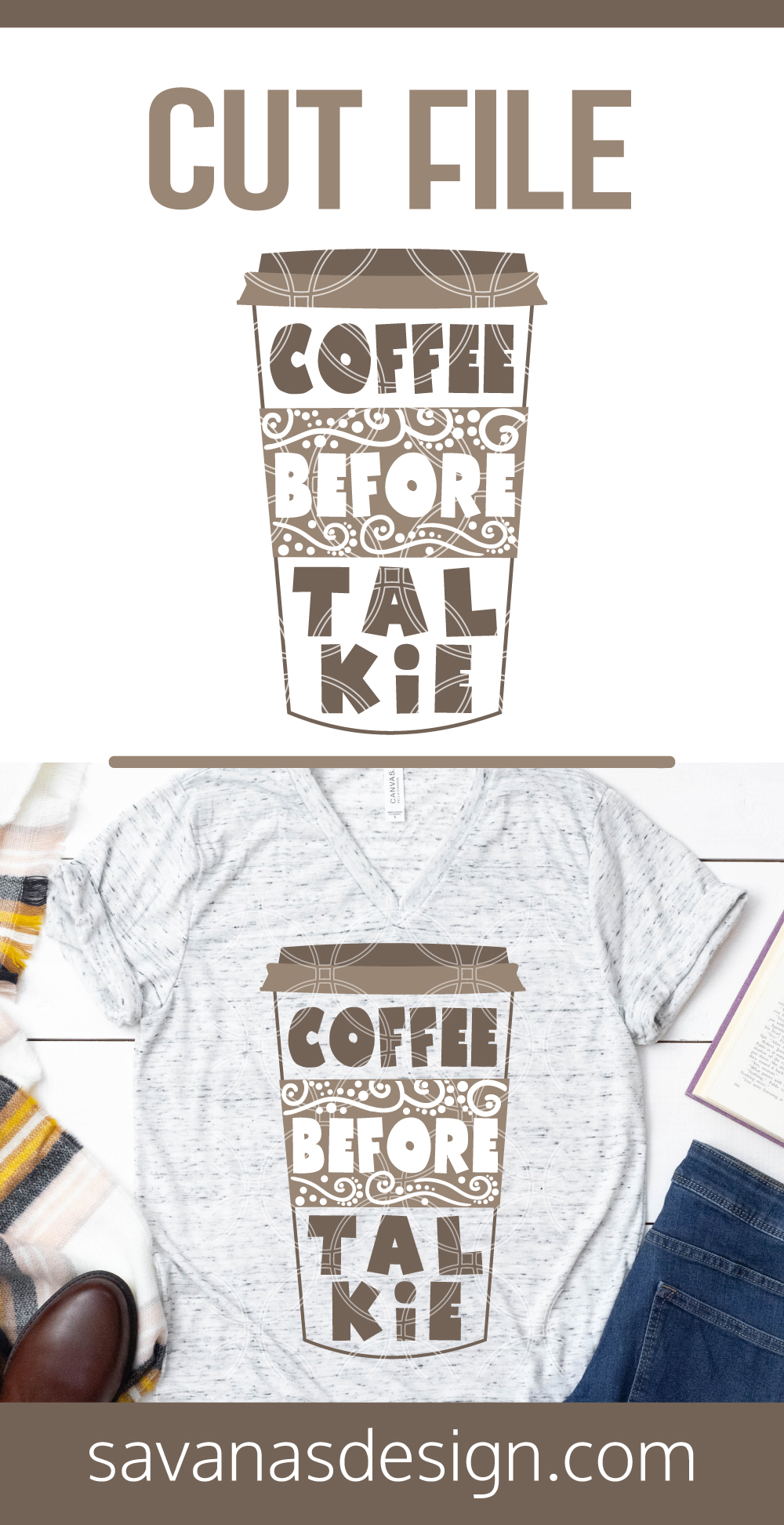 Coffee Before Talkie SVG Pinterest