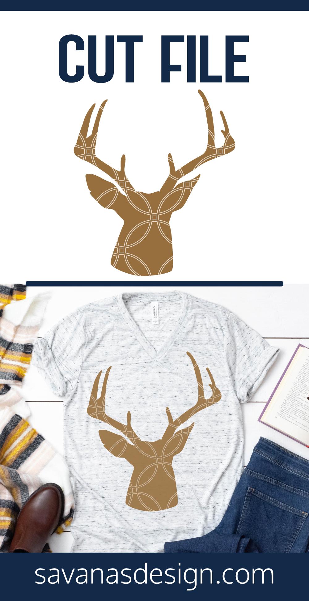 Deer Head SVG Pinterest
