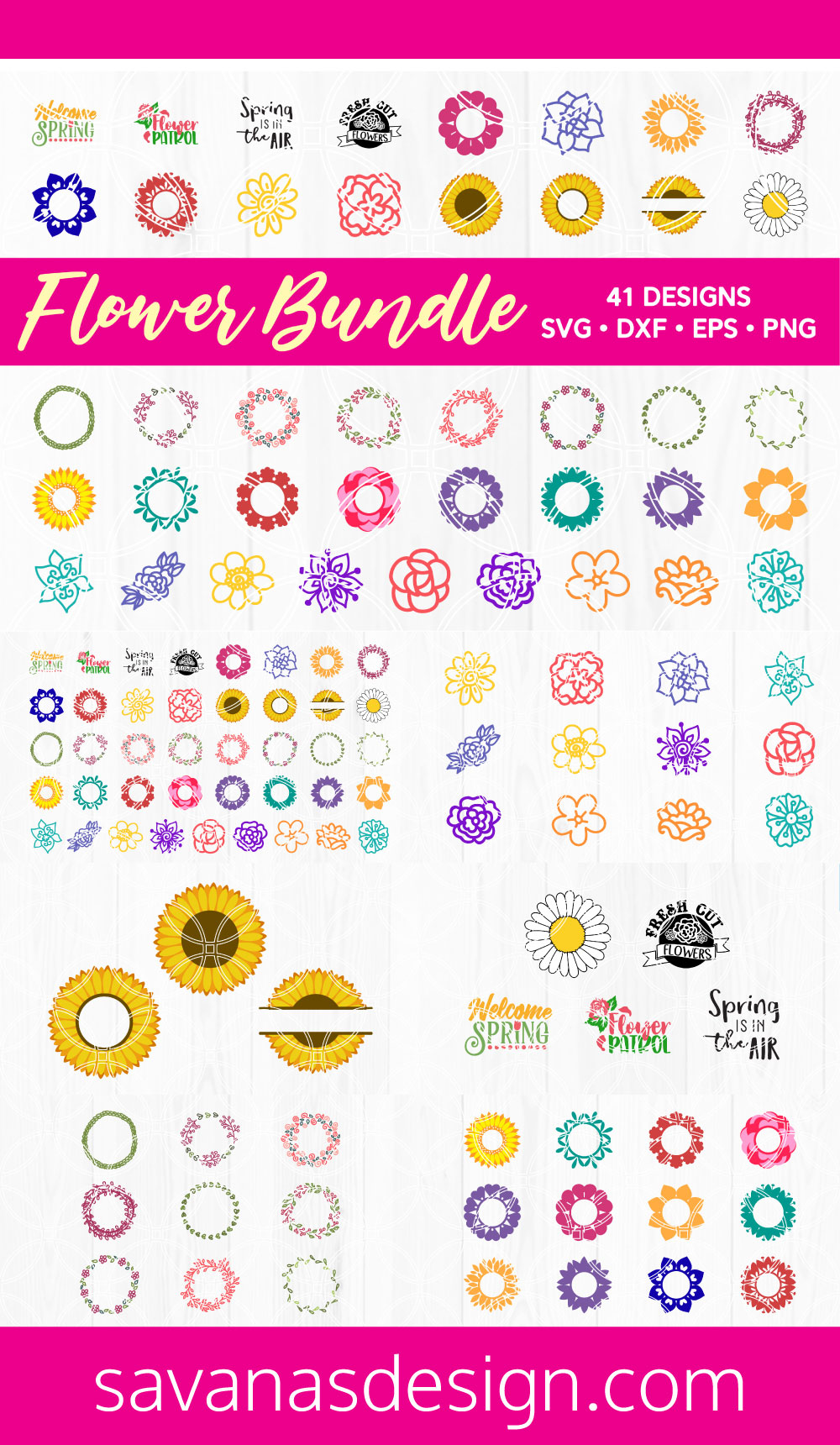 Flower SVG Bundle