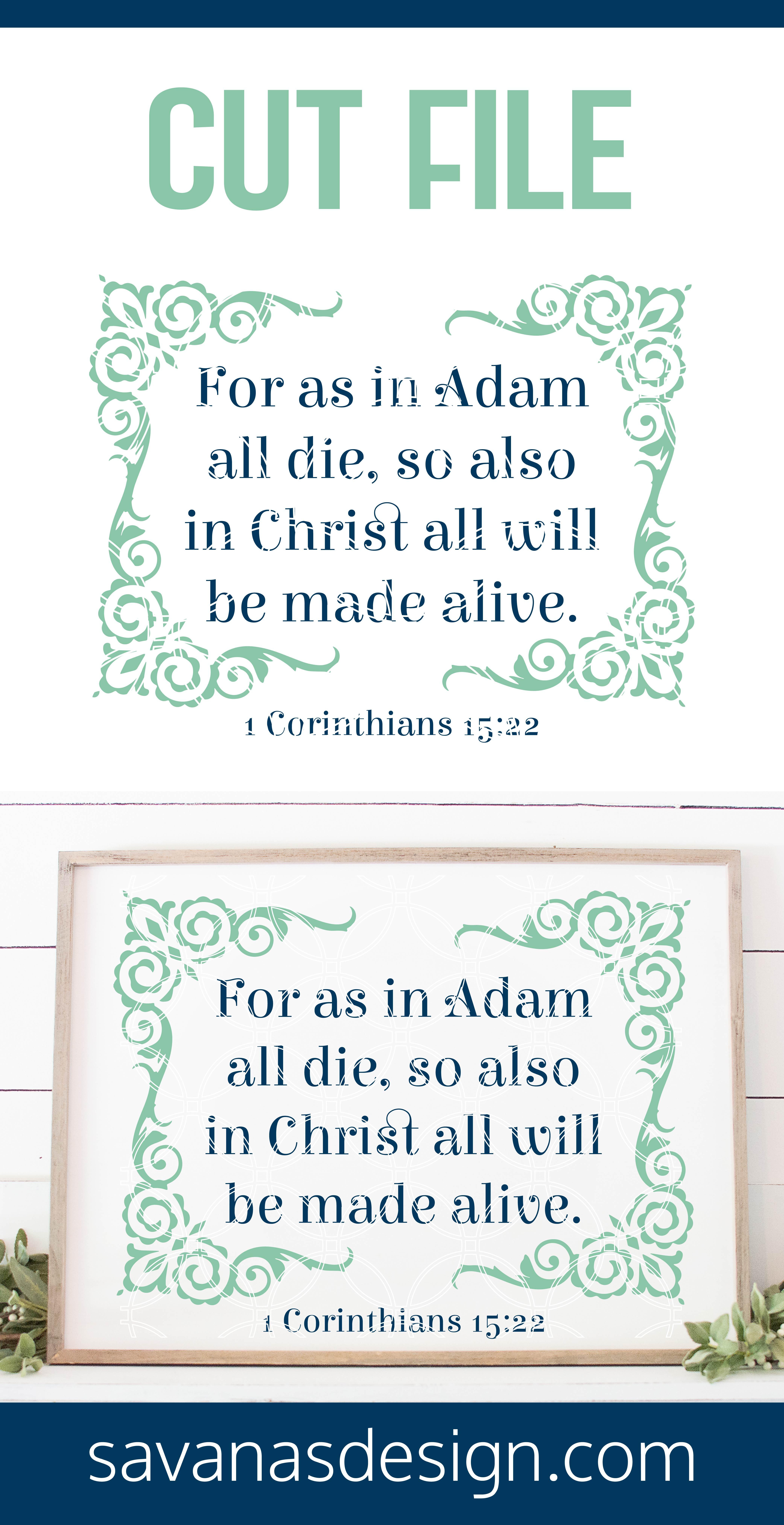 1 Corinthians 15:22 SVG