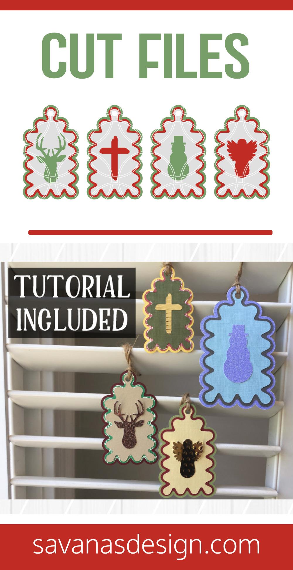 Christmas Gift Tags SVG Pinterest