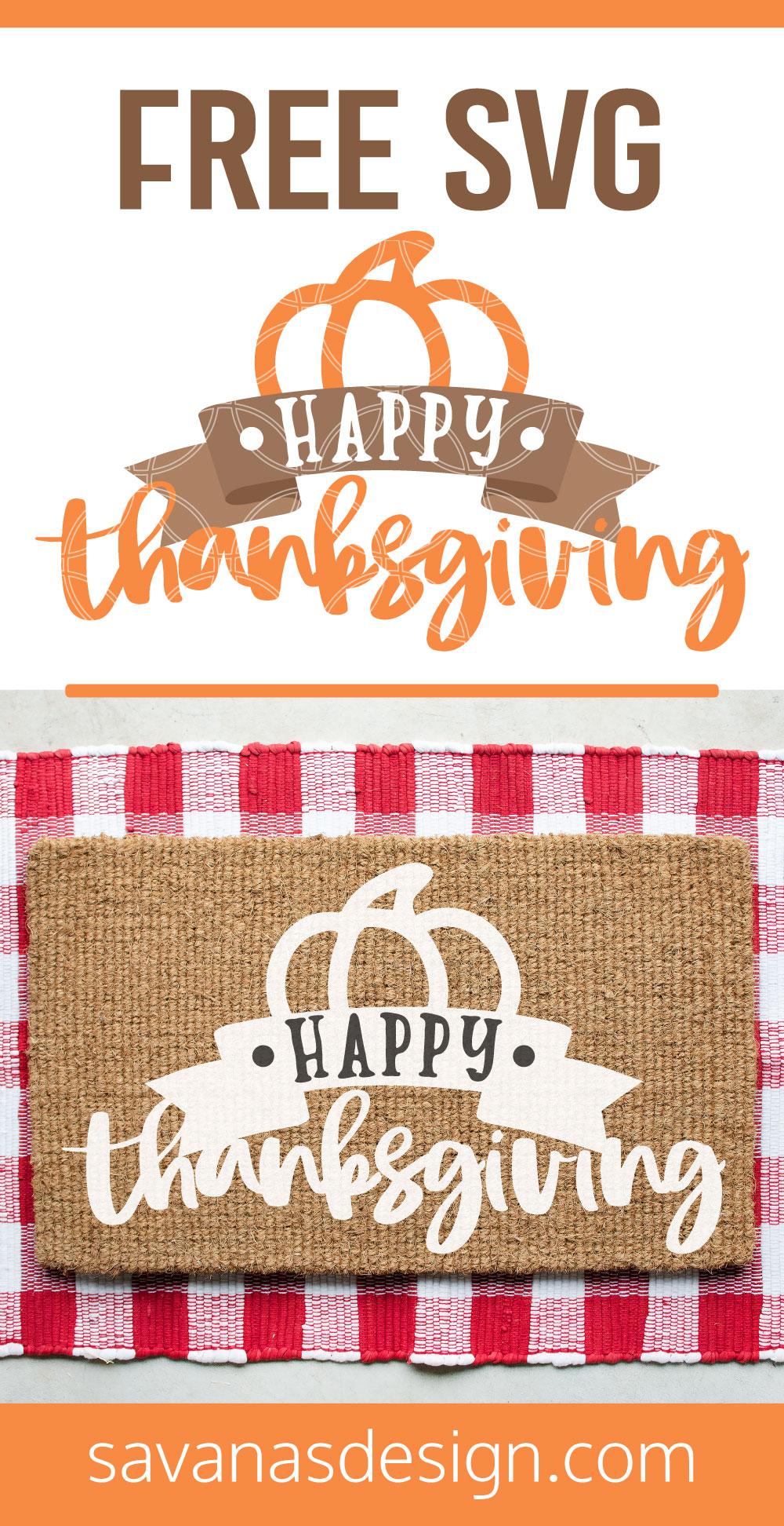 Happy Thanksgiving SVG Pinterest