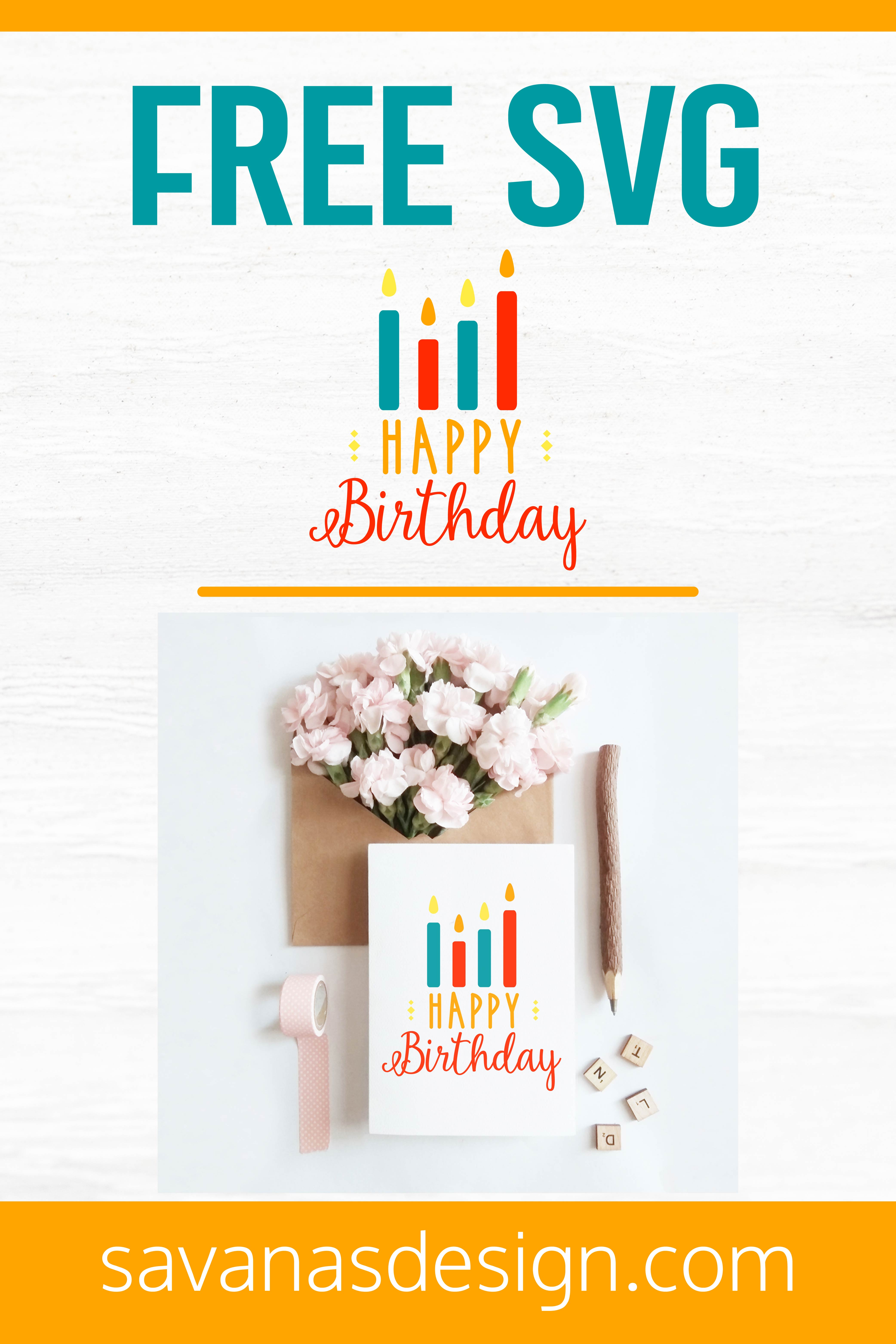 Free Happy Birthday SVG Pinterest