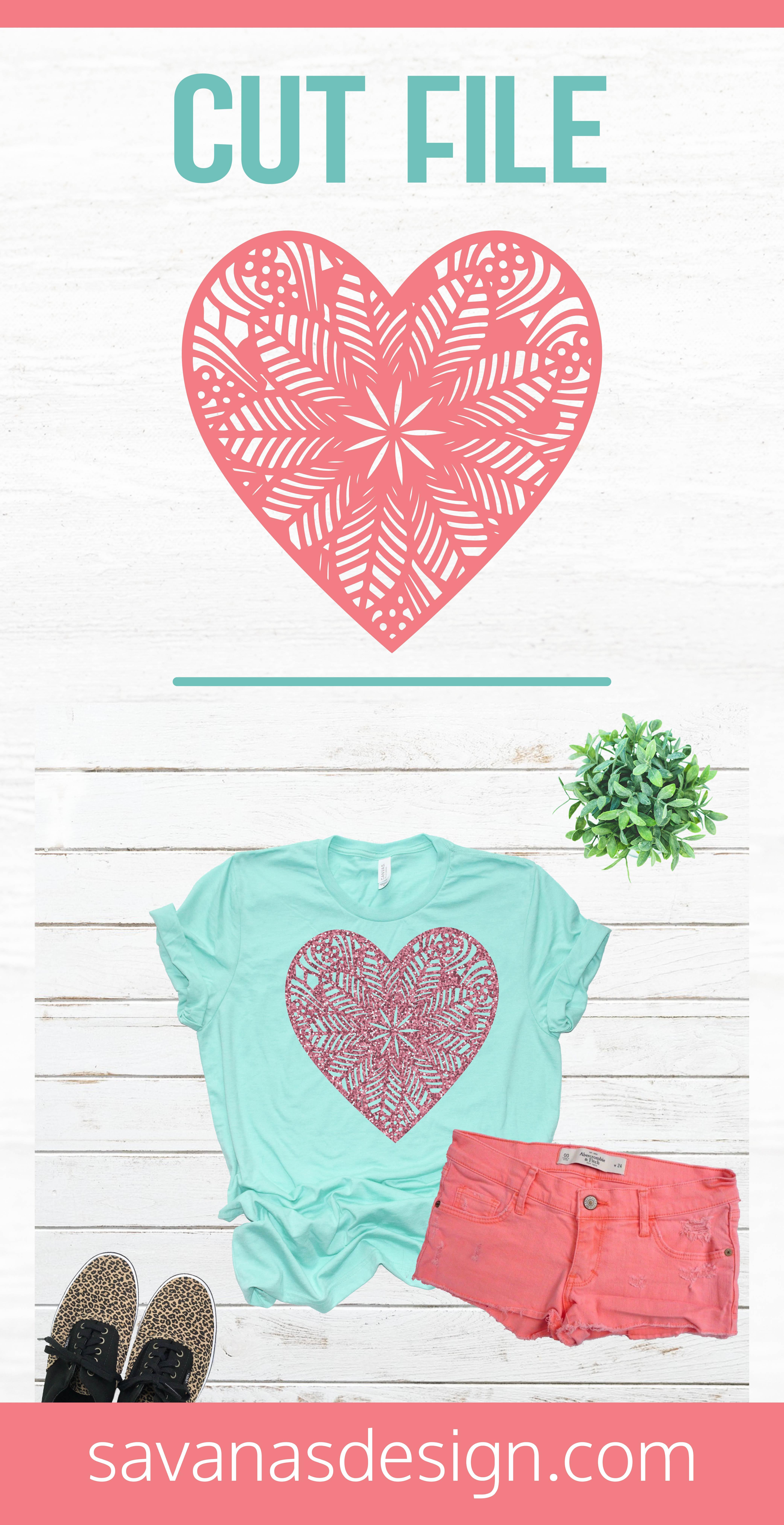Zentangle Heart SVG