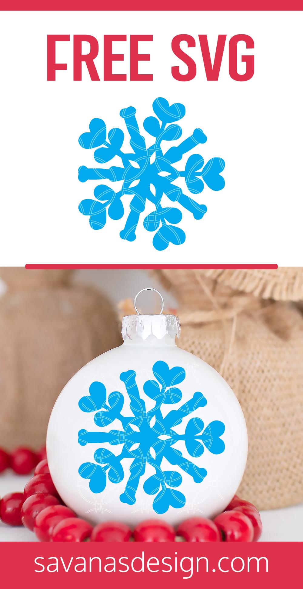 Free Snowflake SVG Pinterest