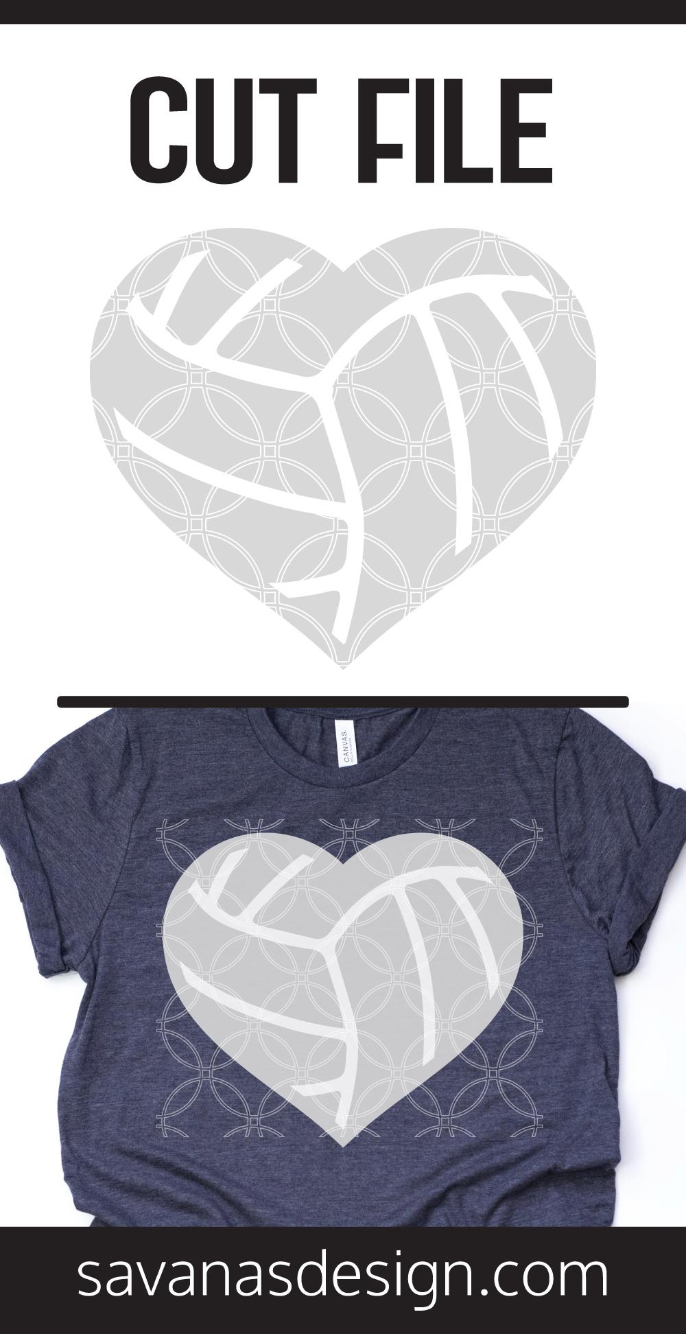 Volleyball Heart SVG Pinterest