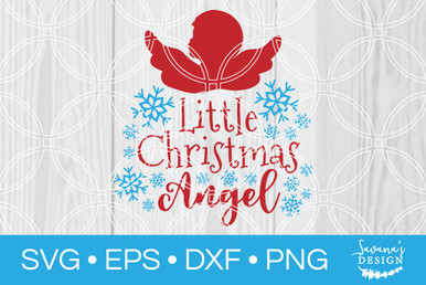 Little Christmas Angel Svg Svg Eps Png Dxf Cut Files For Cricut And Silhouette Cameo By Savanasdesign