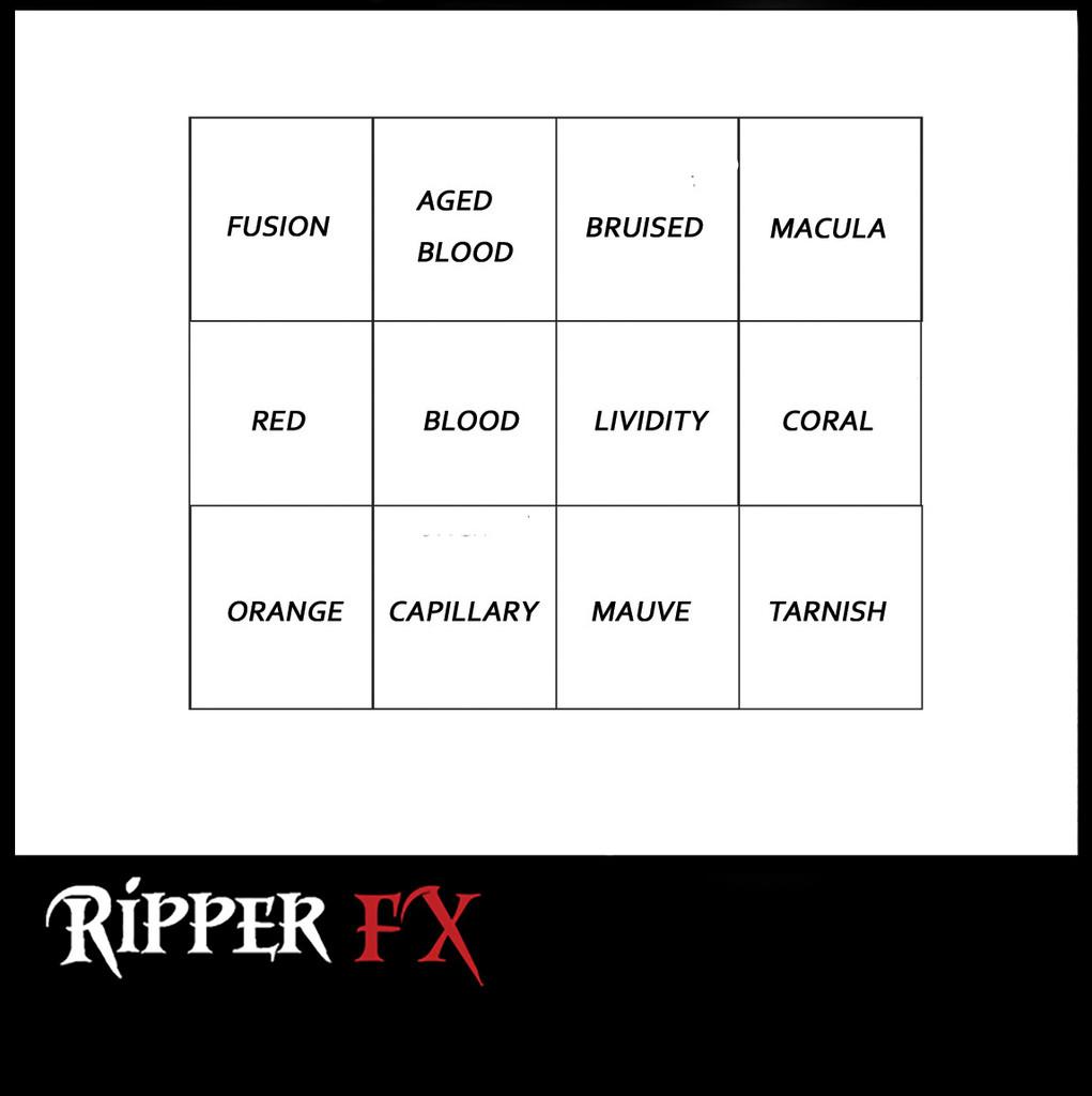 Ripper FX Bruise #2 (Warm) Alcohol Palette