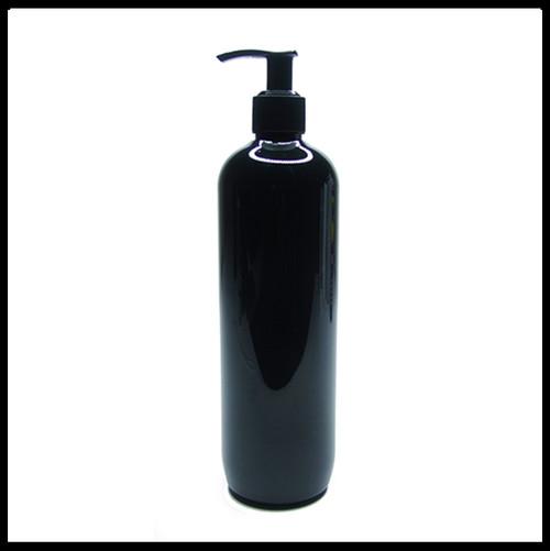 Gloss Black PET Round 500ml Pump Bottle