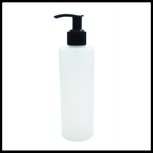 Natural HDPE 250ml Bottle with Black Pump