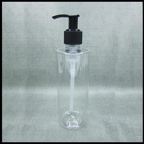 Clear PET 250ml Black Lotion Pump