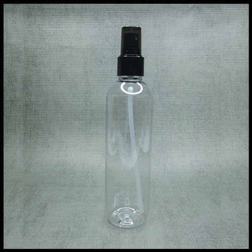 Boston Tall Clear PET 250ml Black Spray