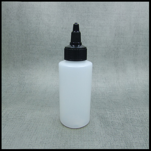 HDPE 50ml Hard Plastic Twist Top Bottle
