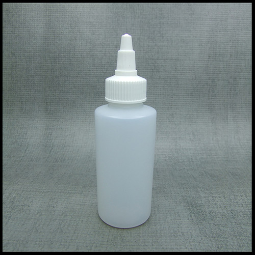 HDPE 50ml Hard Plastic Twist Top Bottle White