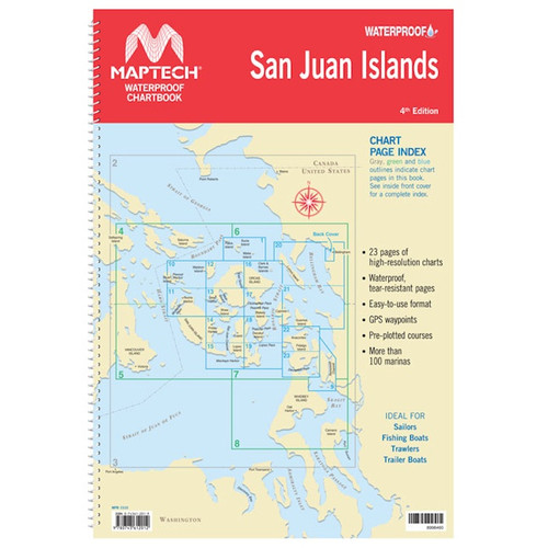 MapTech Waterproof Chartbook: San Juan Islands