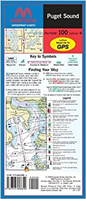 MapTech Waterproof Chart: Puget Sound
