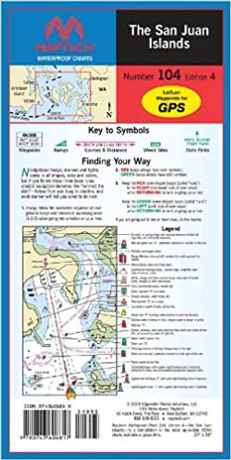 MapTech Waterproof Chart: San Juan Islands