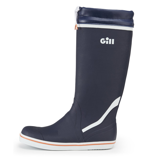 Tall Yachting Boots in Dark Blue