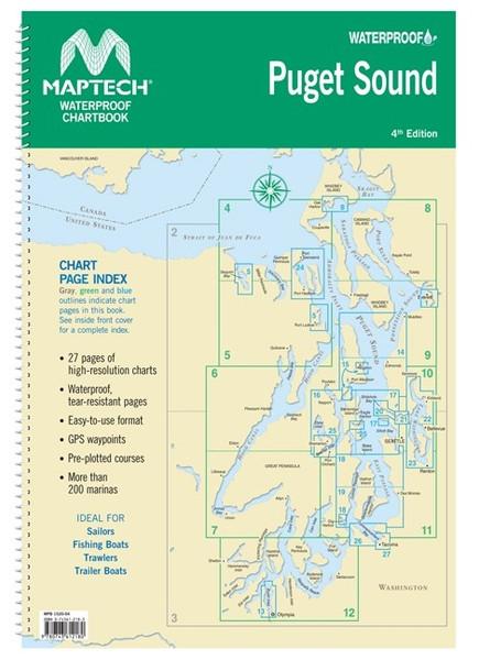 MapTech Waterproof Chartbook: Puget Sound