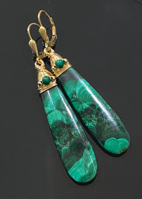 Malachite Teardrop