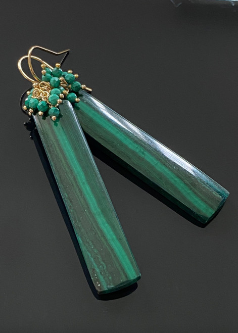 Malachite with cluster