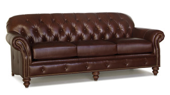 Smith Brothers 396 Large Leather Sofa