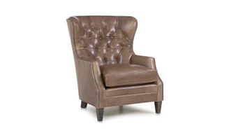 Smith Brothers 527 Tufted Leather Chair