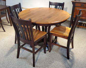 """Amish Hermies Cherry 48"""" Round Counter Height Table Set"""