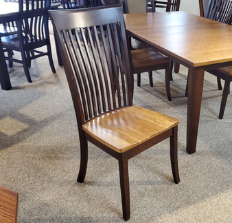 Amish Oakland Wood Two Tone Side Chair
